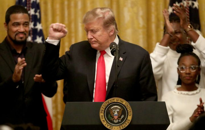 President Donald Trump Participates In A Reception For National African-American History Month