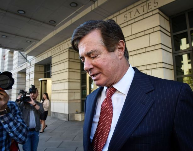 Paul Manafort and his former business partner Rick Gates at U.S. District Court, in Washington, DC.