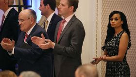 Donald Trump Holds Campaign Event At Trump International Hotel In D.C.