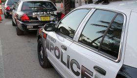 Police cars.