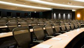 Empty business auditorium