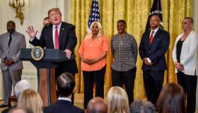 President Donald Trump participates in the 2019 Prison Reform Summit and First Step Act Celebration at the White House, in Washington, DC.