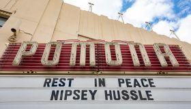 The Fox Theater in Pomona California paying tribute to the late Nipsey Hussle