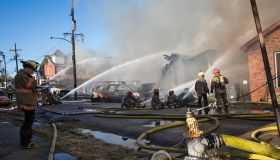 USA - Six Alarm Fire In New Orleans Central City