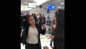 Anna Paulina of Turning Point USA accosting Kamala Harris