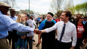 South Bend, Indiana Mayor Pete Buttigieg, who is running as...