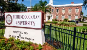 Bethune-Cookman University sign.