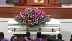 Pamela Turner's funeral at Lilly Grove Baptist Church in Houston