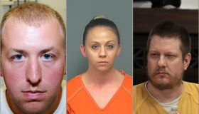 Racist policing in America composite photo of Darren Wilson, Amber Guyger and Jason Van Dyke