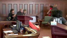 Ohio courtroom brawl, brothers attack mom's killer