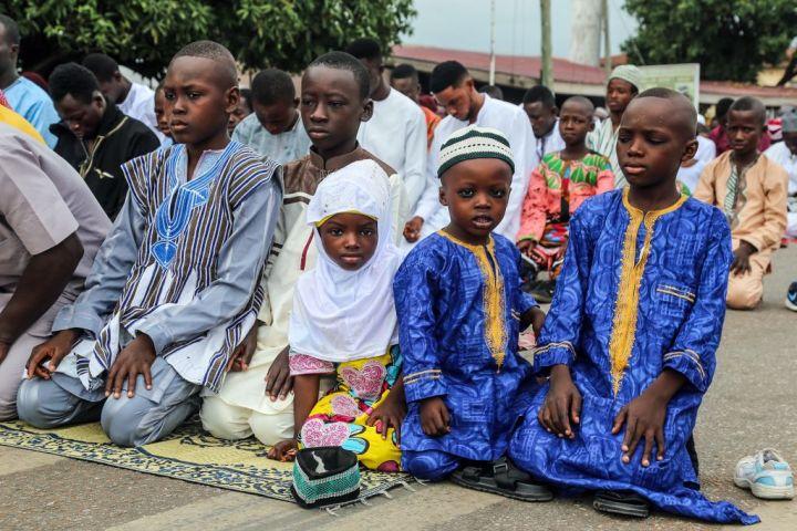 Eid Al Adha prayer in Ghana