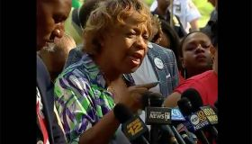 Gwen Carr, Eric Garner's mother, reacting to NYPD firing Daniel Pantaleo
