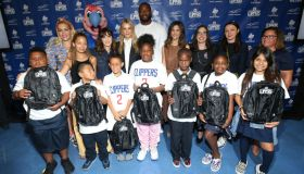 Baby2Baby And Ambassadors Celebrate Donation Of One Million Backpacks From Baby2Baby, Kawhi Leonard And The LA Clippers To Students In Los Angeles