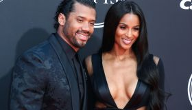 Russell Wilson and wife/singer Ciara arrive at the 2019 ESPY Awards held at Microsoft Theater L.A. Live on July 10, 2019 in Los Angeles, California, United States. (Photo by Xavier Collin/Image Press Agency)