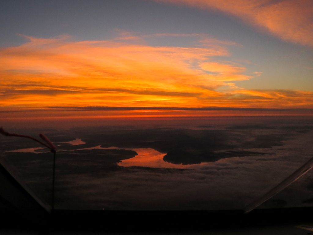 Solar Impulse landing in Dayton, Ohio