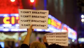 Protestors during a protest for Eric Garner
