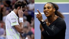 Medvedev and Serena at US Open 2019 and 2018, respectively