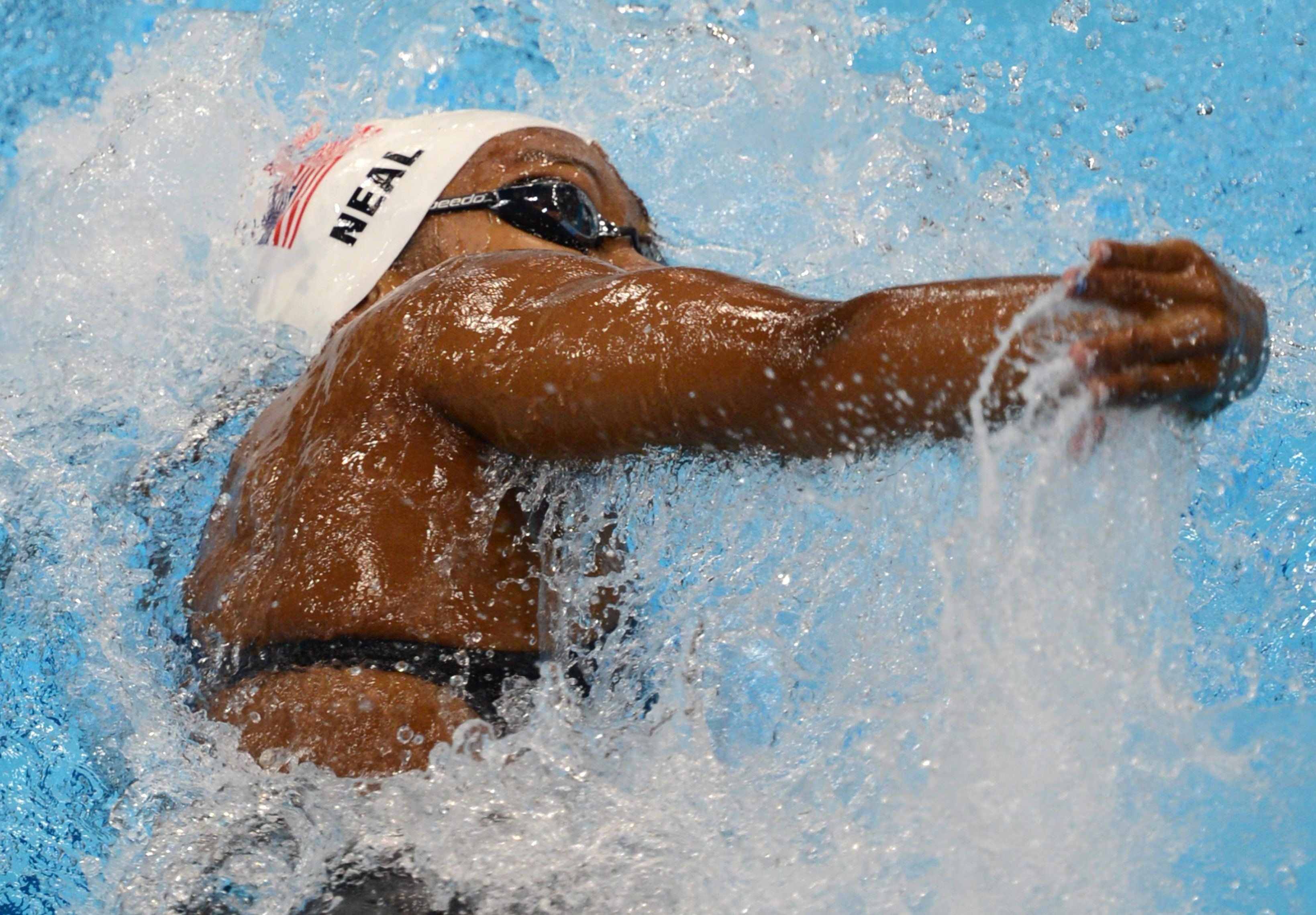 US swimmer Lia Neal competes in the wome