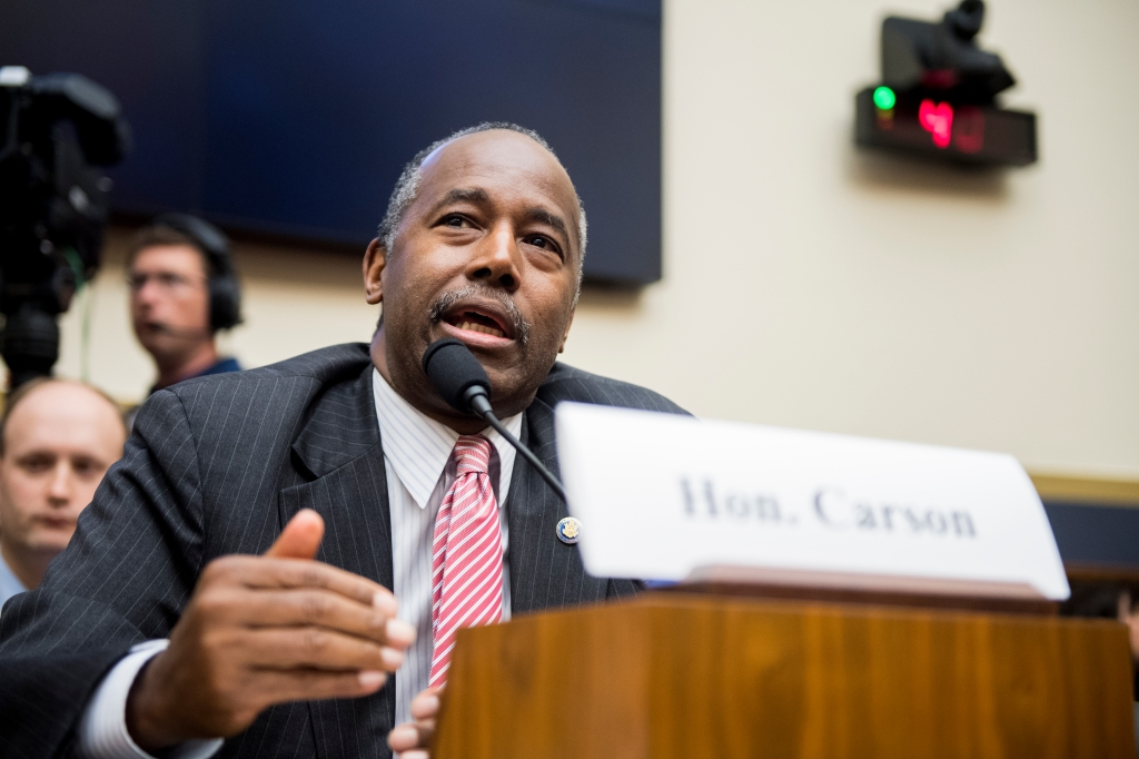 Secretary of Housing and Urban Development Ben Carson...
