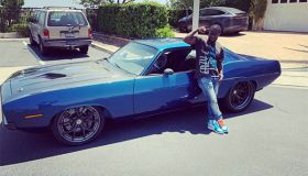 Kevin Hart's Plymouth Barracuda that was in car accident