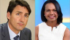 Justin Trudeau and Condoleezza Rice
