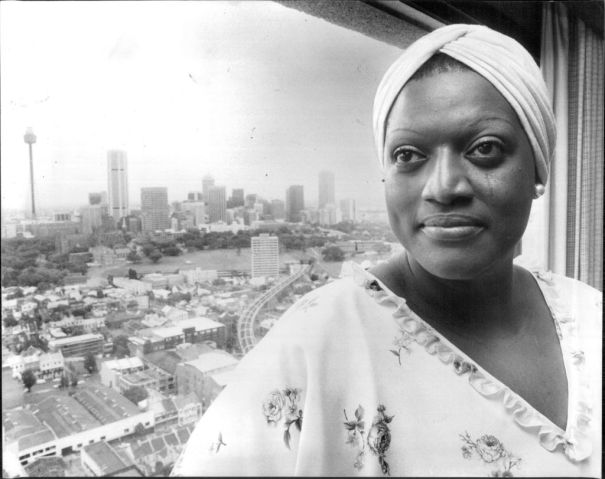 """Black American soprano Jessye Norman in Australia to tour with the ABC., at the Hyatt Kingsgate, Kings Cross.La Norman returned to Australia on Saturday. It is five years since the first Jessye Norman tour of Australia which developed into a kind of """"Norm"""