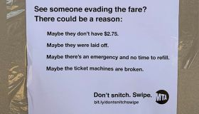 MTA Flyer about fare evasion