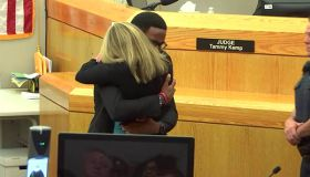 Botham Jean's brother hugging Amber Guyger