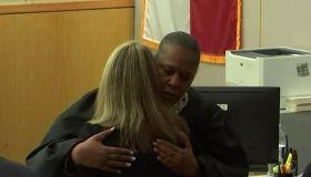 Judge Tammy Kemp hugging Amber Guyger
