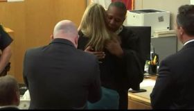 Judge Tammy Kemp hugs Amber Guyger