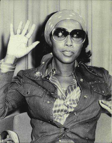 Diahann Carroll, actress, singer, arrived in Sydney today for an Opera House concert.
