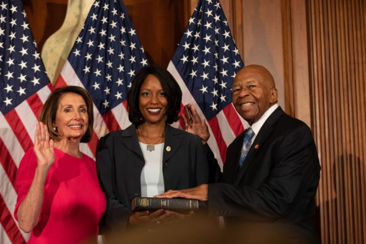 Newly Elected House Speaker Nancy Pelosi Holds Ceremonial Swearing-In