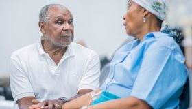Cancer Patient Receiving Treatment stock photo