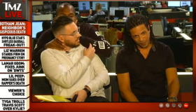 Van Lathan choking Michael Babcock on TMZ Live