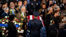WASHINGTON, DC - OCTOBER 24: Congressman Bobby Rush (D-IL), lef