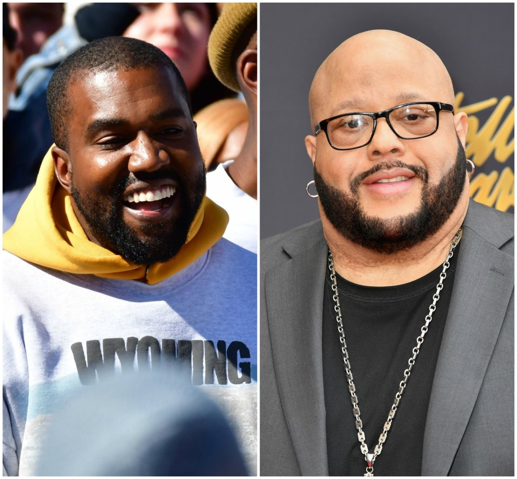 Kanye West and Fred Hammond