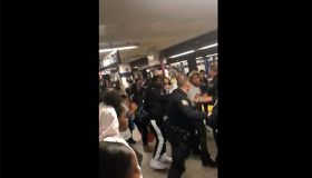 NYPD subway brawl