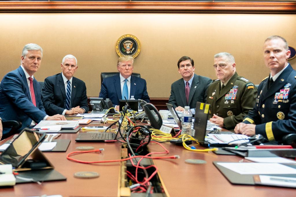 President Donald J. Trump Watches Raid On Abu Bakr al-Baghdadi's Compound