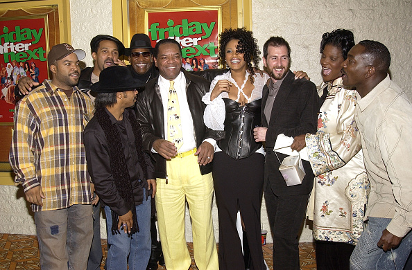 """""""Friday After Next"""" Premiere - Arrivals Actor/writer/producer Ice Cube, Mike Epps, Don """"D.C."""" Curry, John Witherspoon, K.D. Aubert, director Marcus Raboy, Anna Maria Horsford and Clifton Powell Front row: Katt Williams (Photo by Ray Mickshaw/WireImage)"""