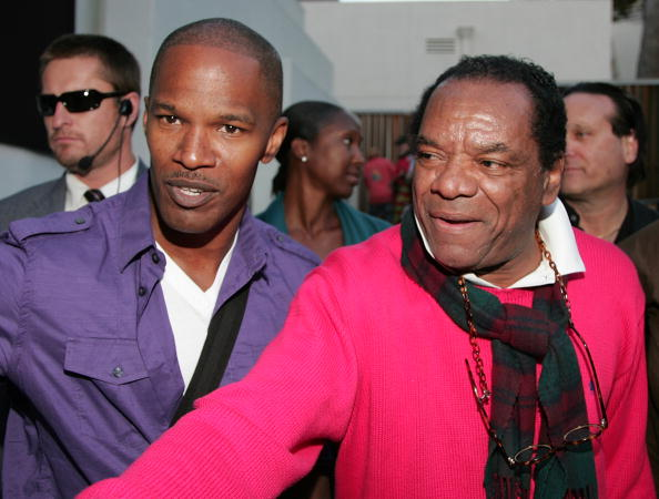 Actors Jamie Foxx (L) and John Witherspoon