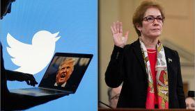 Trump Twitter and Marie Yavanovitch