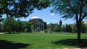 Syracuse U, Quadrangle and Hendricks Chapel