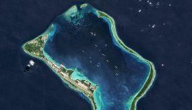 Satellite view of the Diego Garcia