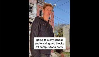 Temple student Liam McDowell Tik Tok viral video