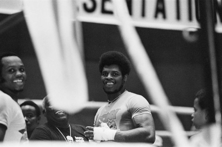 Leon Spinks in his training camp