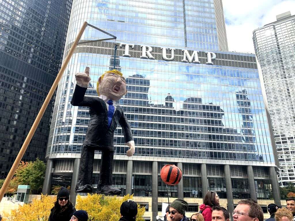 Trump Protest Downtown Chicago