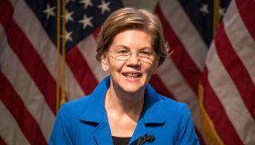 Presidential Candidate Elizabeth Warren Delivers Economic Policy Speech In NH