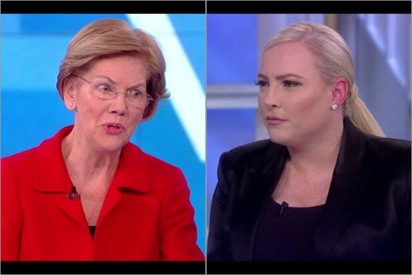 Elizabeth Warren and Meghan McCain on The View