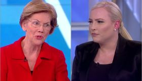 Elizabeth Warren and Meghan McCain on The View