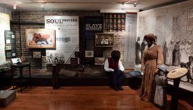ALEXANDRIA, VA - DECEMBER 12: Slavery exhibits at the Freedom H